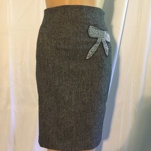 Bebe Pencil Skirt With Bow